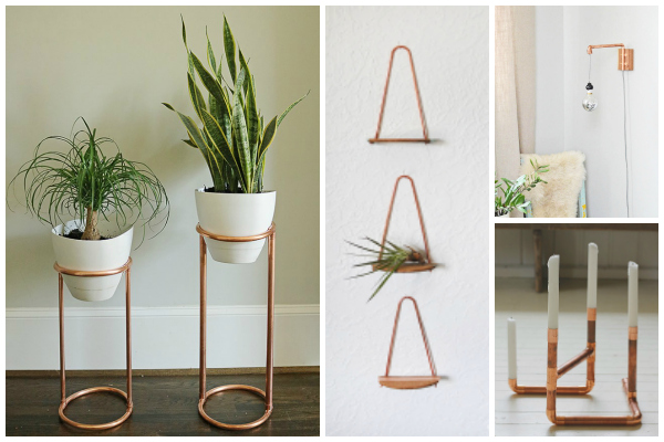 30 Copper Home Decor DIYs Made With Pipes